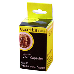 24.3MM DIRECT-FIT COIN CAPSULE- US QUARTER (BOX OF 10)