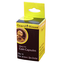 26MM DIRECT-FIT COIN CAPSULE- US SMALL DOLLAR (BOX OF 10)