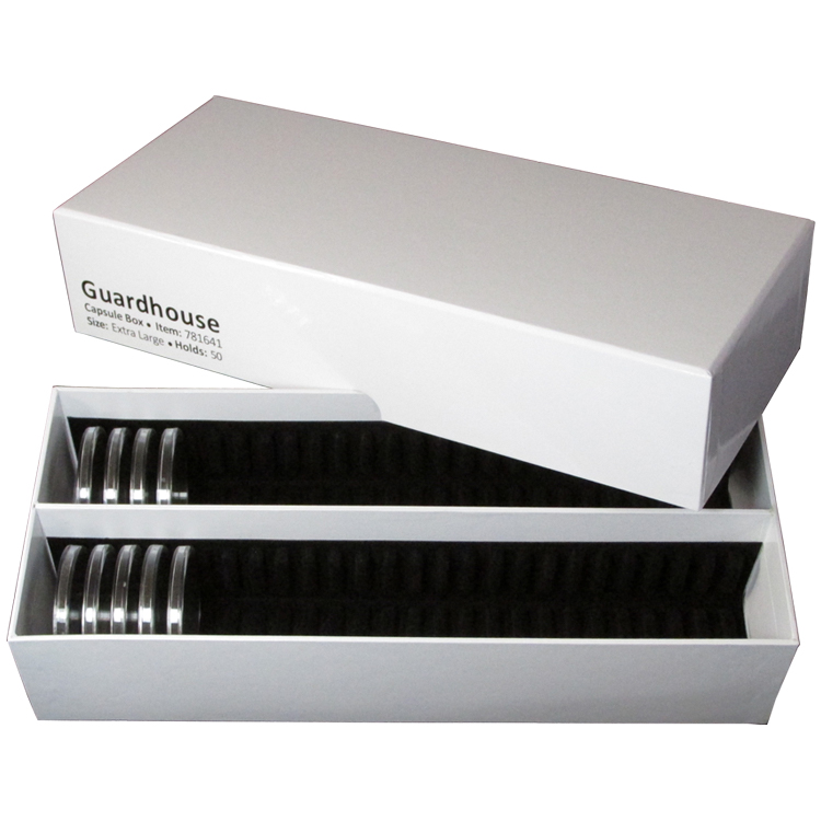 Guardhouse Double Row Coin Capsule Storage Box - Extra Large