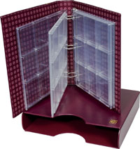 LIGHTHOUSE GRANDE CERTIFIED COIN ALBUM SET (BURGUNDY)