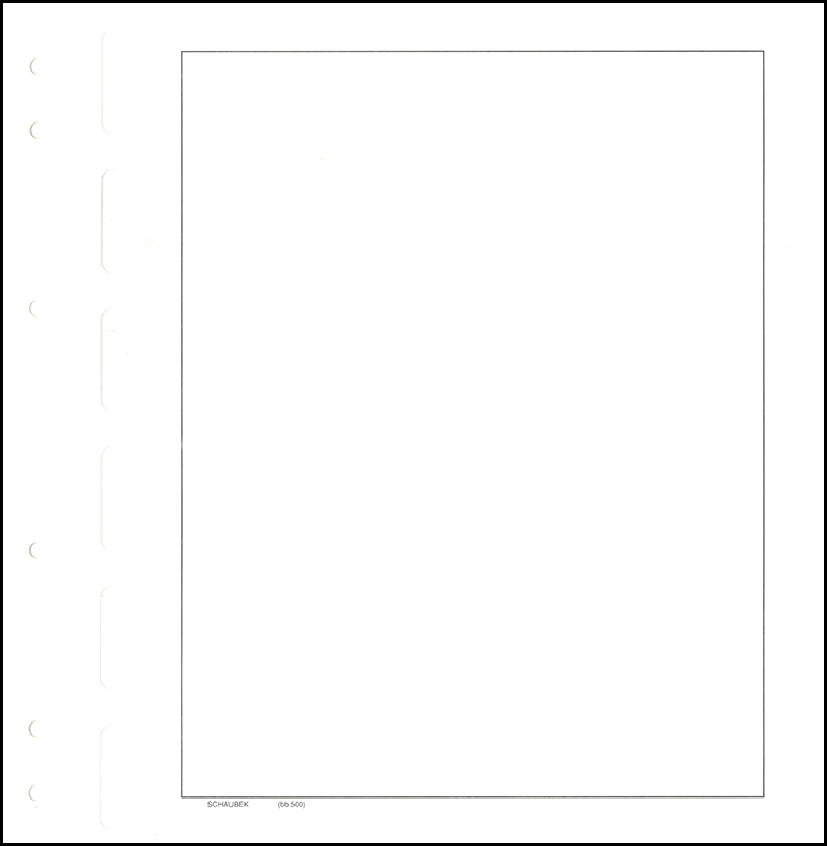 Schaubek Blank Pages (50-Pack)