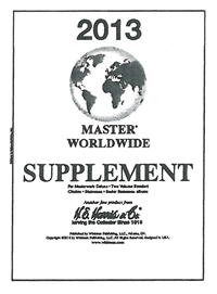 2013 HE HARRIS MASTER WORLDWIDE SUPPLEMENT