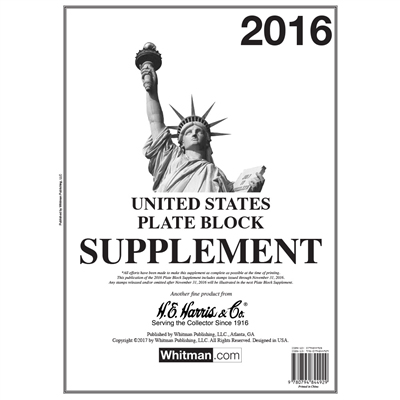 HE HARRIS PLATE BLOCK SUPPLEMENT 2016