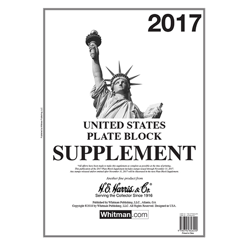 HE HARRIS PLATE BLOCK SUPPLEMENT 2017