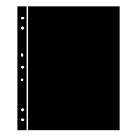 BLACK HAGNER STOCK SHEETS 1 ROW (1 SIDED)(PACK OF 5)