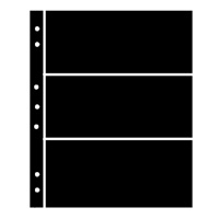 BLACK HAGNER STOCK SHEETS 3 ROWS (1 SIDED)(PACK OF 5)