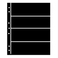 BLACK HAGNER STOCK SHEETS 4 ROWS (1 SIDED)(PACK OF 5)