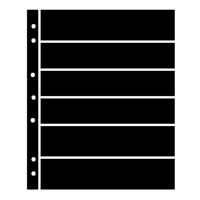 BLACK HAGNER STOCK SHEETS 6 ROWS (1 SIDED)(PACK OF 5)