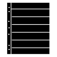 BLACK HAGNER STOCK SHEETS 7 ROWS (1 SIDED)(PACK OF 5)