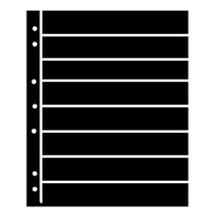 BLACK HAGNER STOCK SHEETS 8 ROWS (1 SIDED)(PACK OF 5)