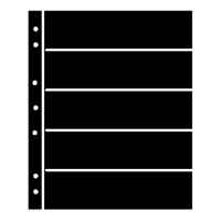 BLACK HAGNER STOCK SHEETS 5 ROWS (2 SIDED)(PACK OF 5)