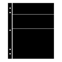 BLACK HAGNER STOCK SHEETS 3 DIFF ROWS (2 SIDED)(PACK OF 5)