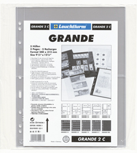 LIGHTHOUSE GRANDE 2C GRADED CURRENCY PAGES (PACK OF 5)
