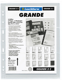 LIGHTHOUSE GRANDE 3C GRADED CURRENCY PAGES (PACK OF 5)