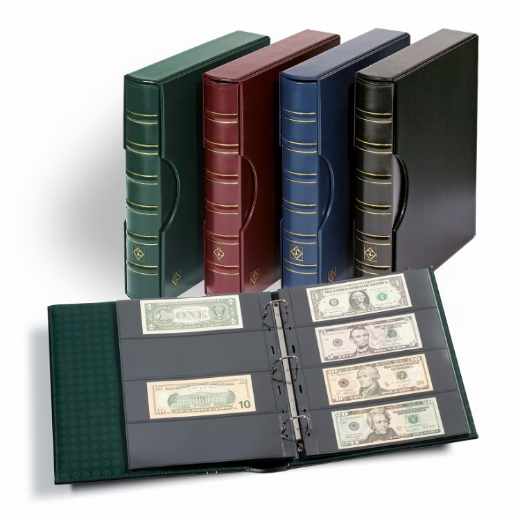 Lighthouse Small Notes Currency Album - Black