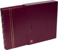 LIGHTHOUSE GRANDE COIN ALBUM & SLIPCASE (BURGUNDY)
