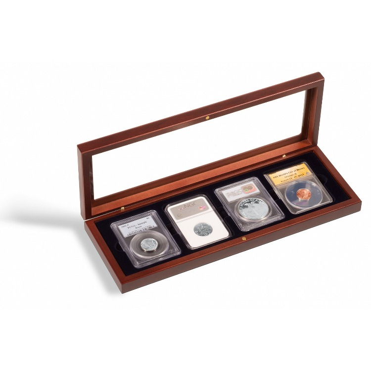 VOLTERRA Glass-Top Display Box - 4 Certified Slabs