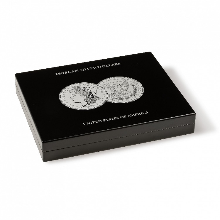 Wood Presentation Case for Morgan Silver Dollars