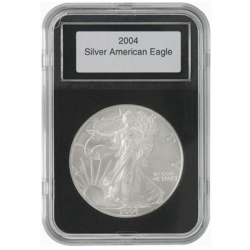 Lighthouse Everslab 40-41mm - US Silver Eagles, Medallions, 2000 ptas Commem. Coin, 10 Euro Spanish Commem. Coin