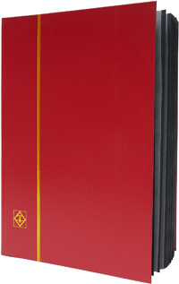 LIGHTHOUSE: STOCKBOOK 32 BLACK PAGES/RED