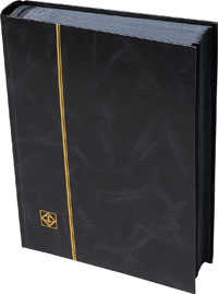 LIGHTHOUSE: STOCKBOOK 64 BLACK PAGES/BLACK