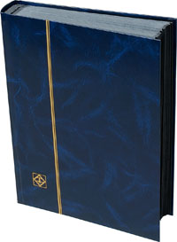 LIGHTHOUSE: STOCKBOOK 64 BLACK PAGES/BLUE