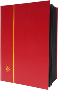 LIGHTHOUSE: STOCKBOOK 64 BLACK PAGES/RED