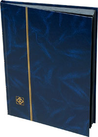 LIGHTHOUSE: STOCKBOOK 16 BLACK PAGES/BLUE