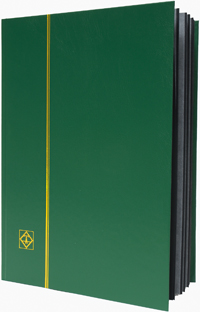 LIGHTHOUSE: STOCKBOOK 16 BLACK PAGES/GREEN