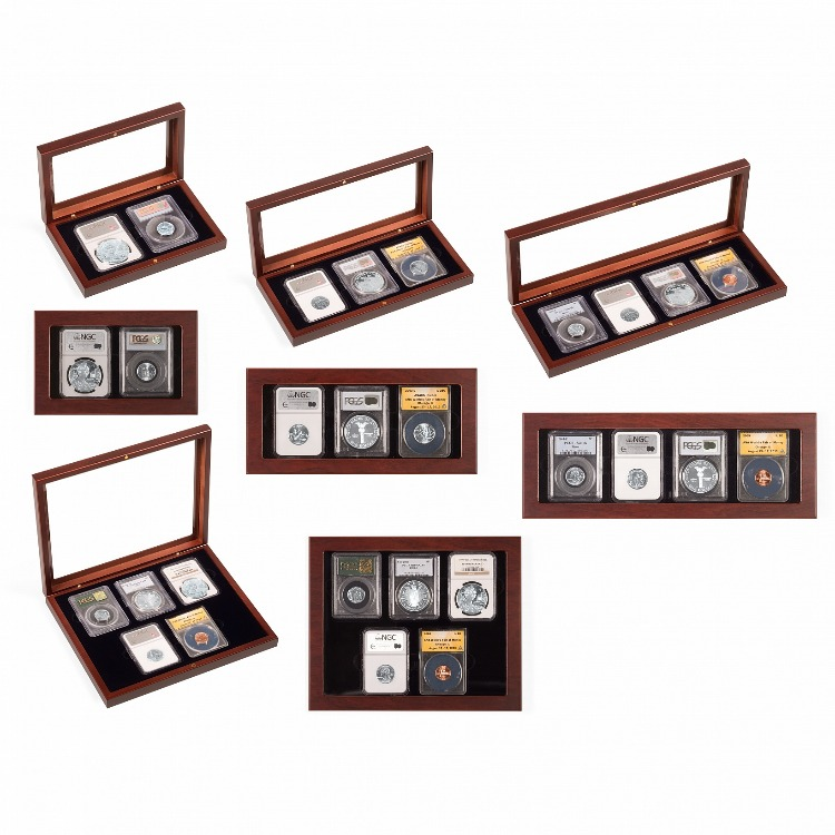 VOLTERRA Glass-Top Display Box - 2 Certified Slabs