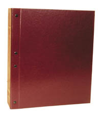 "MINKUS: 2.5"" 2-POST MAROON BINDER"