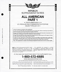 MINKUS: ALL-AMERICAN 2011 PT. 1  REG. & COMMEMS. (18 PAGES)