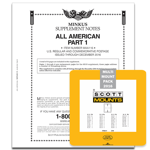 2016 MINKUS ALL-AMERICAN PT. 1 SUPPLEMENT + SCOTT MOUNT SET (BLACK)