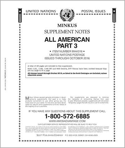 MINKUS: ALL-AMERICAN 2016 PT. 3 UNITED NATIONS (30 PAGES)