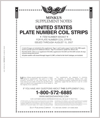 MINKUS: ALL-AMERICAN 2007 PT. 6  PLATE NO. COIL STRIPS (10 PAGES)