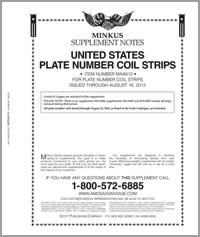 MINKUS: ALL-AMERICAN 2012 PT. 6  PLATE NO. COIL STRIPS (4 PAGES)