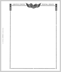 MINKUS BLANK PAGES: ALL-AMERICAN POSTAL ISSUES (2-POST - PACK OF 20 PAGES)