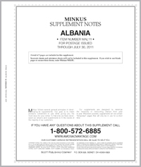 MINKUS: ALBANIA 2011 SUPPLEMENT (4 PAGES)
