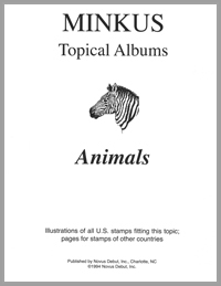 MINKUS TOPICAL ALBUM PAGES: ANIMALS (22 PAGES)