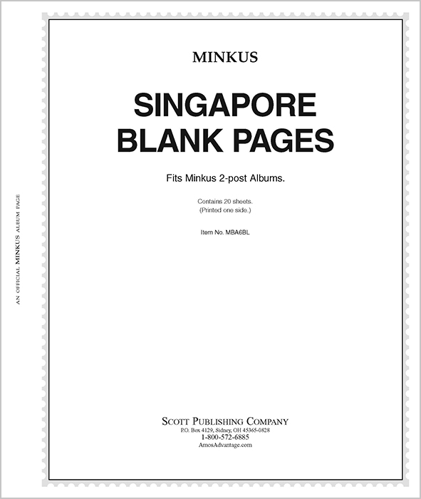 Minkus Singapore - Blank Pages
