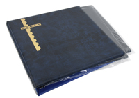 Scott Mint Sheet Binder & 25 Black Pages - Blue
