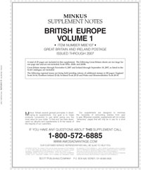 MINKUS: BR. EUROPE VOL. 1 - GREAT BRITAIN/IRELAND 2007 SUPP. (26 PAGES)