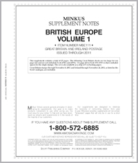 MINKUS: BR. EUROPE VOL. 1 - GREAT BRITAIN/IRELAND 2011 SUPP. (28 PAGES)
