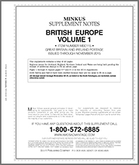 MINKUS: BR. EUROPE VOL. 1 - GREAT BRITAIN/IRELAND 2016 SUPPLEMENT (30 PAGES)