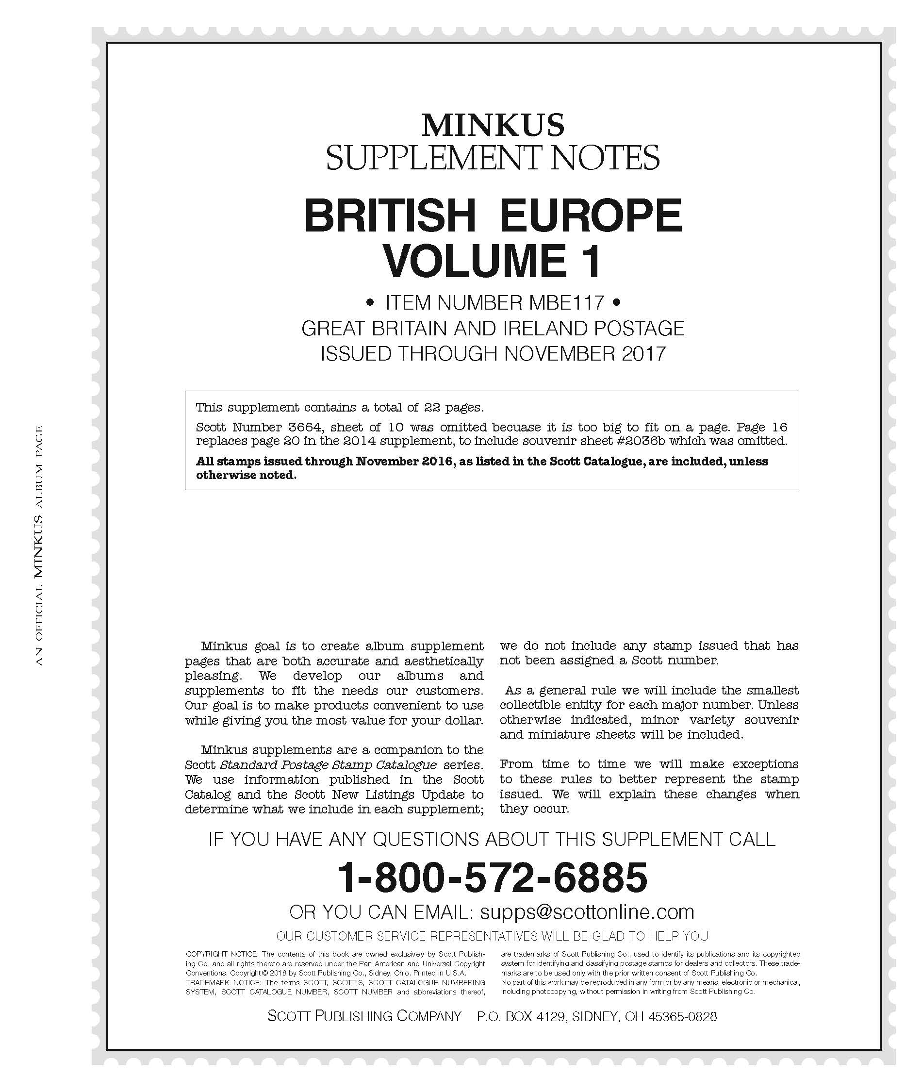 Minkus British Europe Vol. 1  2017