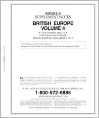 MINKUS: BRITISH EUROPE VOL. 4 - GIBRALTAR 2012 SUPP. (10 PAGES)