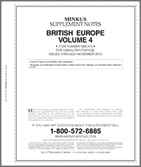 MINKUS: BRITISH EUROPE VOL. 4 - GIBRALTAR 2015 SUPP. (8 PAGES)