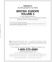 MINKUS: BR. EUROPE VOL. 5 - CYPRUS 2007 SUPPLEMENT (5 PAGES)