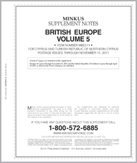 MINKUS: BR. EUROPE VOL. 5 - CYPRUS 2011 SUPPLEMENT (8 PAGES)