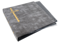Scott Mint Sheet Binder & 25 Black Pages - Gray
